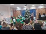 Танец с бабой Ягой, хоровод с детьми, Дед Мороз и снегурочка