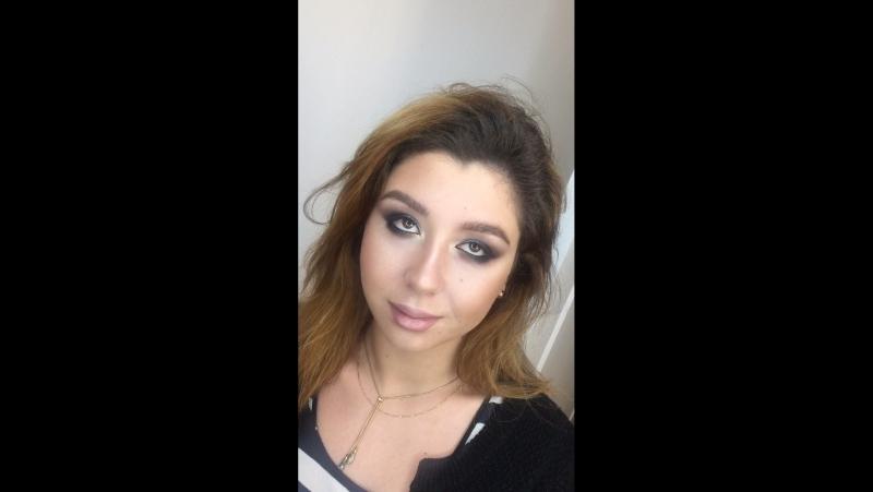 Цветной вечерний макияж для Галины