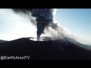 Извержение вулкана в Японии, заснятое дроном
