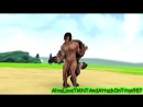 [MMD Attack On Titan X TMNT] Eren Titan And Raphae Werewolf (Monster)