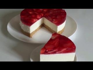 Чизкейк без выпечки(Желейный торт с творогом) [Рецепты Bon Appetit]