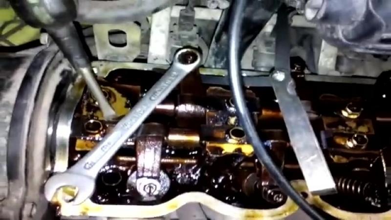 Регулировка зазоров клапанов на Daewoo Matiz.