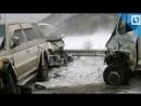 Сразу семь авто попали в аварию на Сахалине