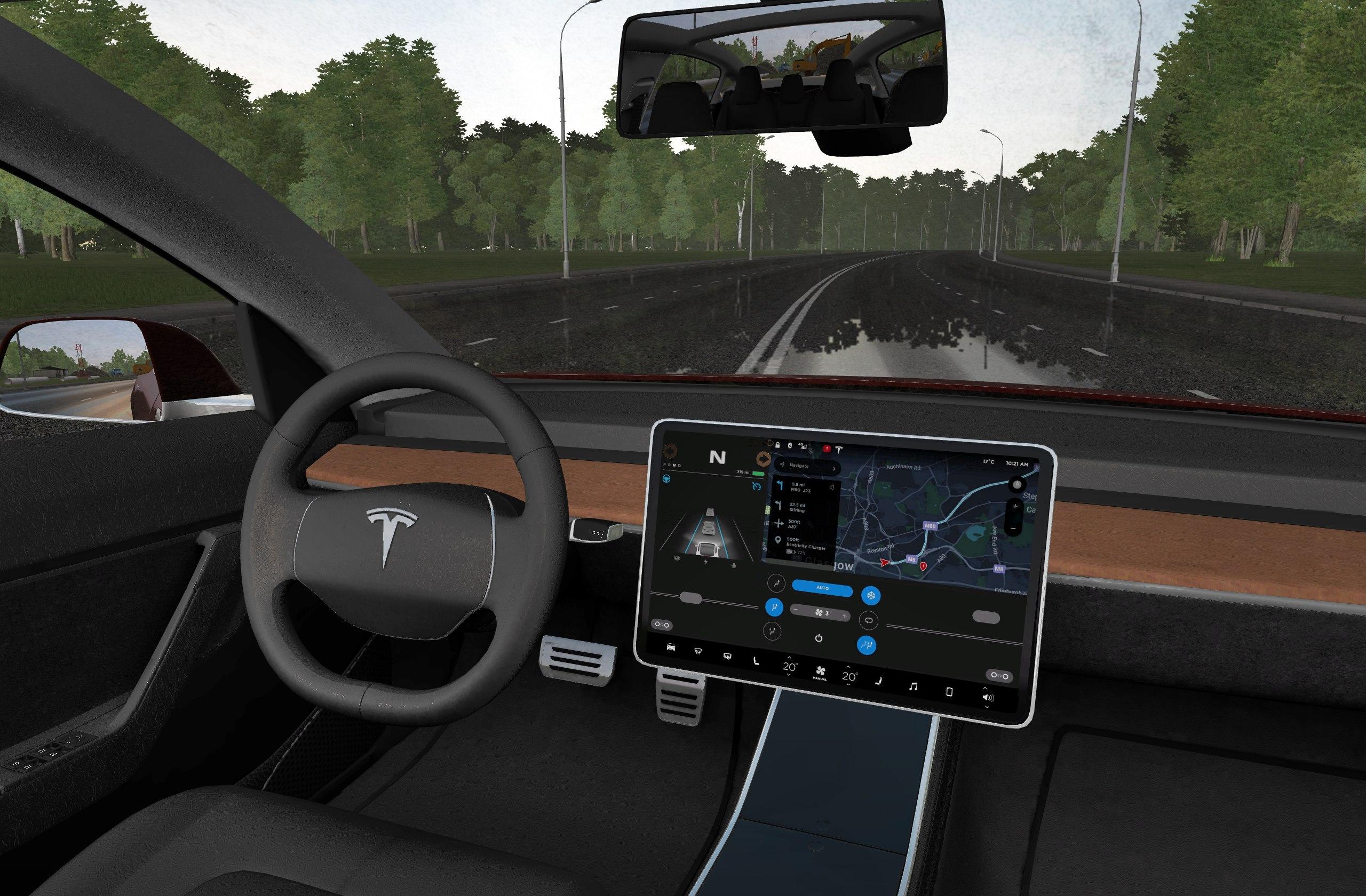 e827f76cbb8 City Car Driving :: Topic: 2018 Tesla Model 3 - 1.5.7 (1/1)