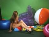 Sherrie beachball full (inflatable fetish, pvc, vinyl, aufblas, balloon)
