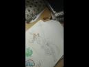 рисую полуголого кентавра