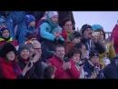 Церемония награждения после смешанной эстафеты на ЧЕ 2018. Серебро у России!
