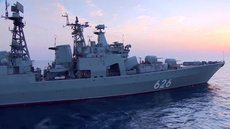 Russias biggest warship rockets revealed - BBC News