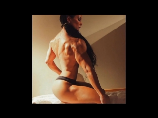 Super hot fitness mom of 3 - muscle woman adriana kuhl