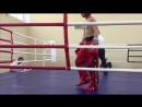 3 раунд, красный угол Никитин Артем, синий угол Цуркан Николай,финальный бой.