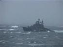 Шторм...Северная Атлантика.Корабли Северного Флота.