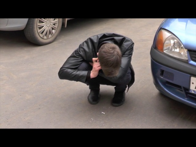 Пьяный на 15 или возмездие за хамство репортеру, Октябрьский. Место происшествия ...