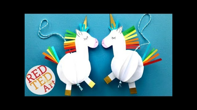 Easy Unicorn DIY Decor - Paper DIYs - Room Decor - DIY Unicorn Ornament