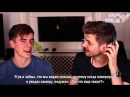 YOUTUBER WHISPERS WITH CONNOR FRANTA! [RUS SUB]