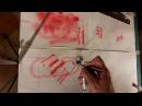 Аэрограф 5 Как держать тренируем руки рисуем промываем