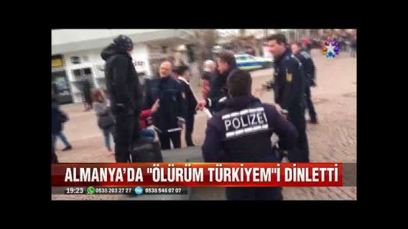 Almanya'da yüksek sesle ölürüm Türkiyem çalan vatandaş kimleri çıldırttı