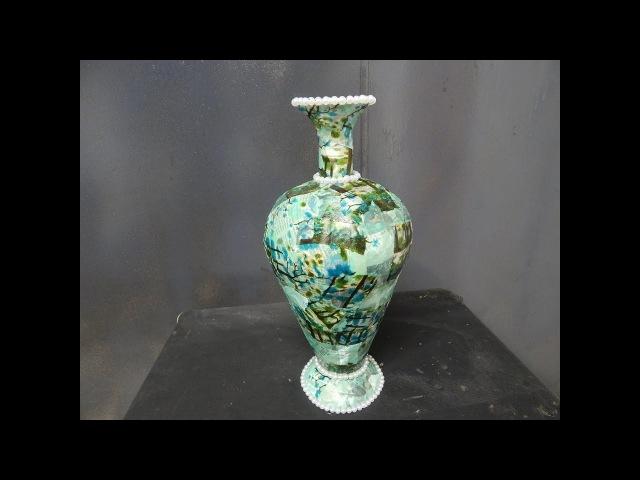 Vaso com molde de papelão e sombrinha-Ft- Reciclar Arte- Zé Paulo- 90