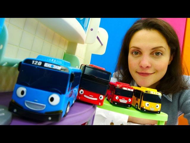 Детский сад КАПУКИ КАНУКИ! ТАЙО 🚌 маленький автобус. Видео для детей с игрушками