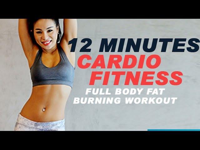 12 Minutes Cardio Fitness Party | 12 phút Cardio giảm mỡ toàn thân | Full Body Fat Burning Workout |
