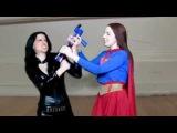 Ryona Superheroine Wonder Woman vs Supergirl Shrink Fight