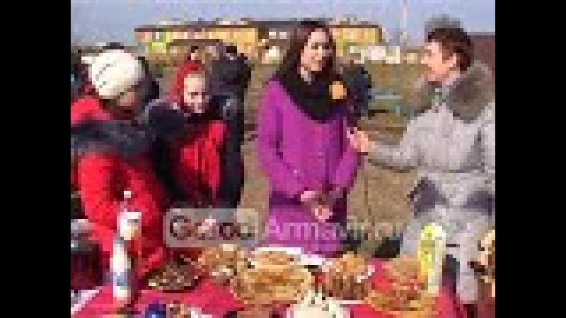 В хуторе Красная Поляна Масленицу отметили по семейному