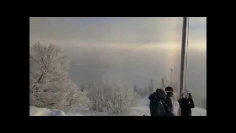 Шикарное гало в горах Швеции