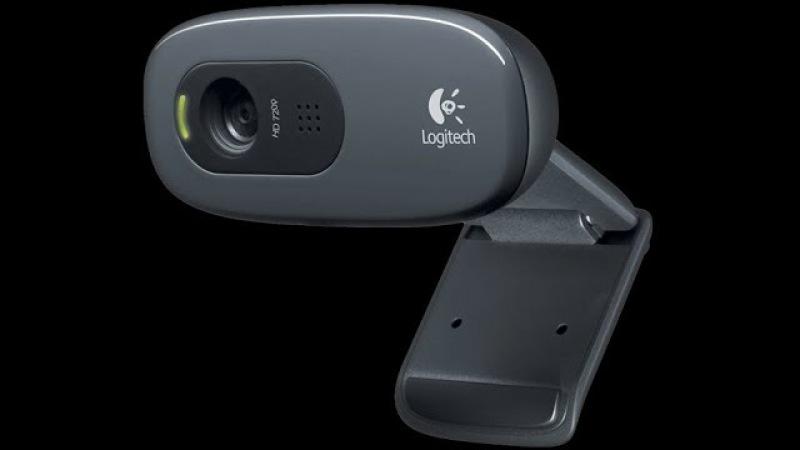 Распаковка вебкамеры Logitech c270