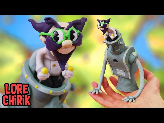 Making Dr Kahl's Robot Boss from Cuphead in Polymer Clay