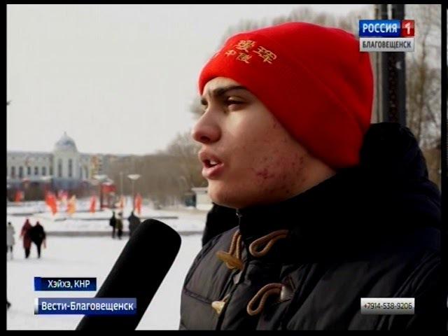 Тысячи туристов оценили снежные и ледовые скульптуры в Харбине