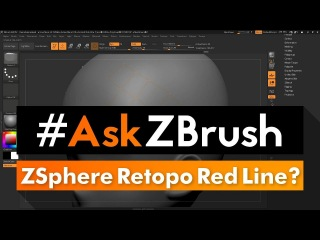 """#AskZBrush: """"I get a Red Line when using ZSpheres to retopo? I can't make  it disappear?"""
