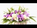 Корзина из орхидей и гвоздик - Цветочный Маркет 24