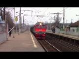 2М62-1120 с грузовым поездом, платформа Перхушково