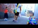 Bayi lucu ali dan icel naik sepeda roda tiga bermain sa'at sore baby playing bicyle