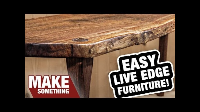 Live Edge Slab Furniture. The Happy Accident That Didn't Go as Planned!