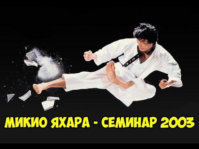 1 й международный семинар по каратэномичи Микио Яхары 1 Mikio Yahara seminar 2003