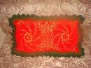 Декорируем подушку -вязаный чехол для диванной подушки