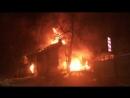Крупный пожар в Заводском районе Саратова.