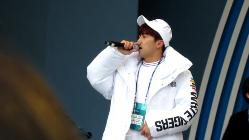 [Фанкам] 180219 2PM - JUMP (Фокус на Уёна) @ 2018 PyeongChang Winter Olympic Headliner Show - Rehearsal
