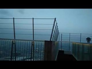 Обзорная площадка на 87 этаже с высоты  354m. МоскваСити