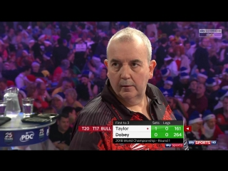 Phil Taylor vs Chris Dobey (PDC World Darts Championship 2018 / Round 1)