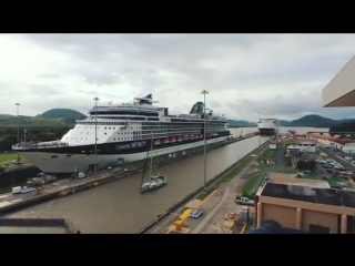 Cruise ship CELEBRITY INFINITY at Panama canal