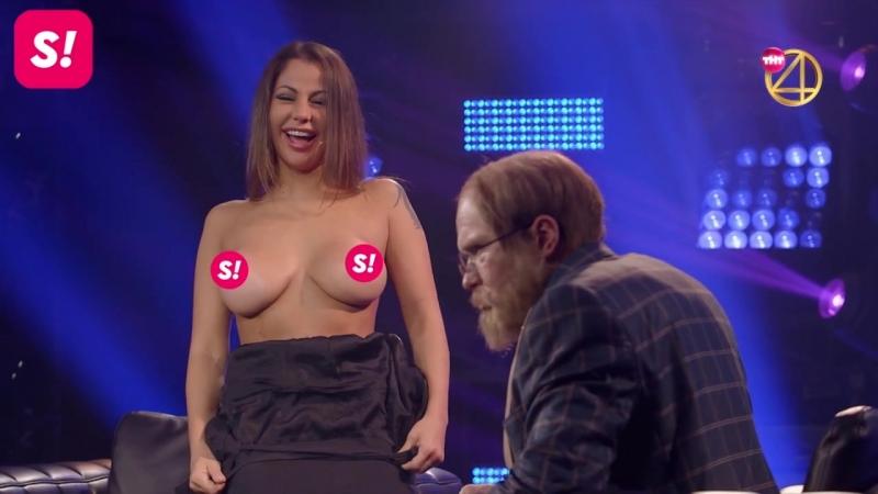Лена Беркова показала грудь в эфире ТНТ!