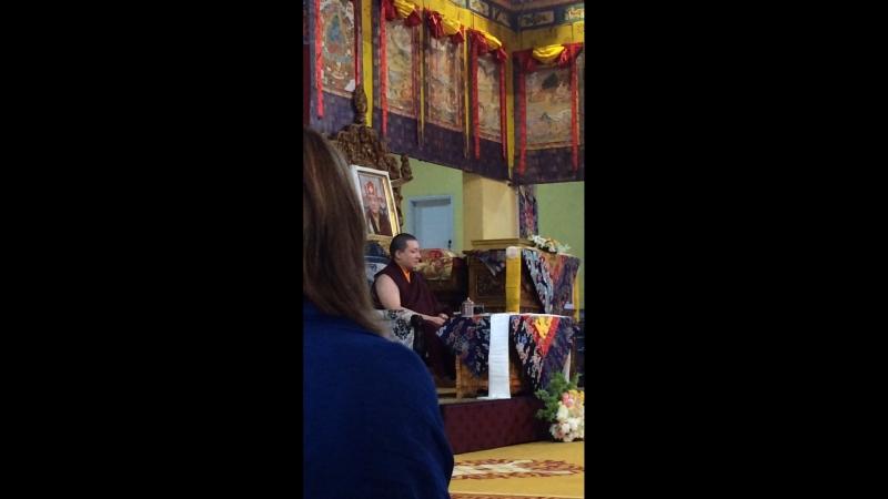 HH Karmapa 17 Thaye Dorje 16.03.2018 part 1