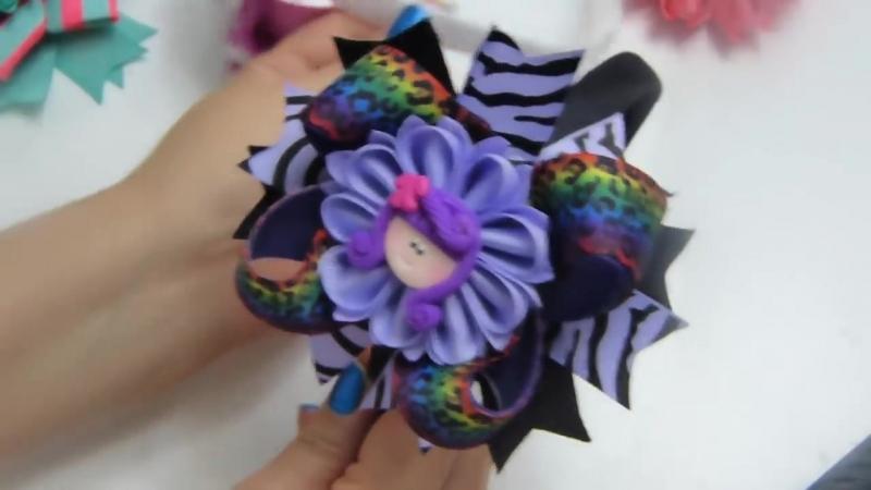Como hacer petalo mariposa con liston Vídeo 533 grosgrain flowers tutorial