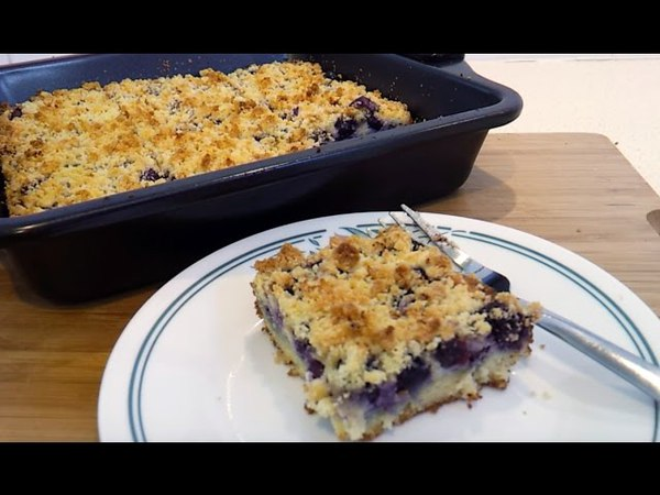 Blueberry Cheese Danish Coffee Cake - Low Carb, Gluten Free, Keto Atkins Friendly