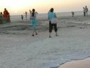 Рассвет на соляных озерах Тунис