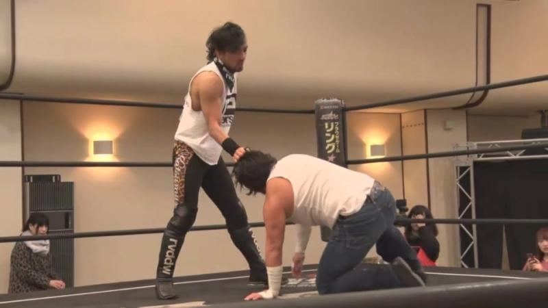 Katsumi Oribe Ken Ohka Yumehito Imanari vs Black Ribera Shuichiro Katsumura Takeshi Okada Ganbare Wrestling