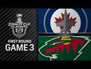 Winnipeg Jets vs Minnesota Wild – Apr. 15, 2018 Game 3 Stanley Cup 2018. Обзор