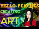 HELLO PEACHES - Creating graphic art