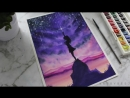 Watercolor Painting Catch the Stars